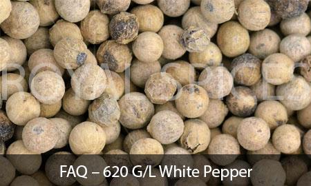 FAQ - 620 G/L White Pepper